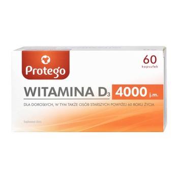 Protego Witamina D 4000, kapsułki elastyczne, 60 szt.