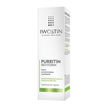 Iwostin Purritin Rehydrin, krem przywracający nawilżenie, 40 ml