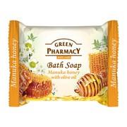 Green Pharmacy, mydło w kostce, miód manuka i olejek z oliwek, 100 g