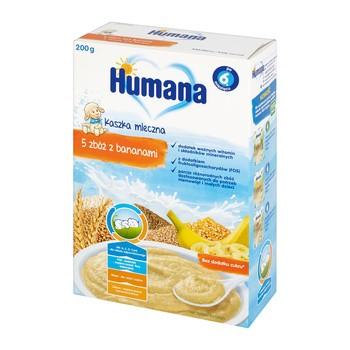 Humana, kaszka mleczna, 5 zbóż z bananami, 6 m+, 200 g