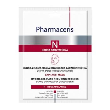Pharmaceris N Capti-Acti Mask, hydro-żelowa maska redukująca zaczerwienienia, 1 szt.