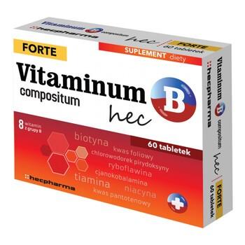 Vitaminum B compositum Forte hec, tabletki, 60 szt.