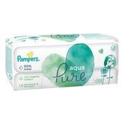 Pampers Aqua Pure, chusteczki nawilżane dla niemowląt, 2 x 48 szt.