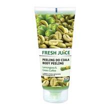 Fresh Juice, żel peelingujący do ciała, lemongrass & green coffee z olejkiem z trawy cytrynowej, 200 ml