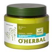 O`Herbal, maska do włosów suchych i zniszczonych, ekstrakt z lnu, 500 ml