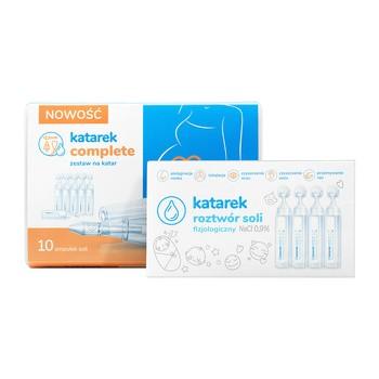 Katarek Complete, zestaw na katar (aspirat+sól fizjologiczna), 1 szt.