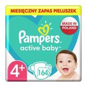 Pampers Active Baby 4+, (10-15 kg), pieluszki jednorazowe, 164 szt.