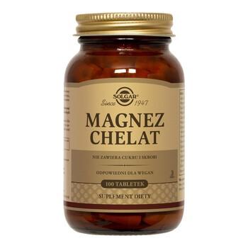 Solgar Magnez Chelat, tabletki, 100 szt.