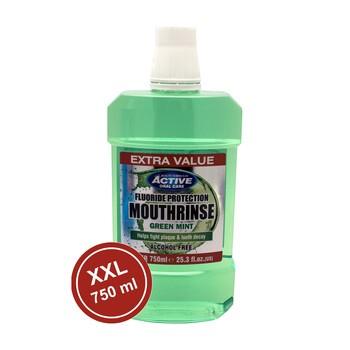 Active Green Mint, płyn do ust z fluorem, bez alkoholu, 750 ml