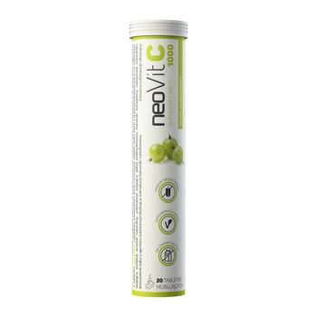 NeoVit C 1000, tabletki musujące, smak agrestowy, 20 szt.