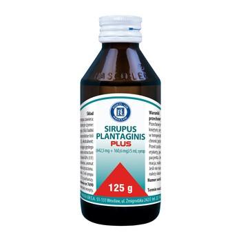 Sirupus Plantaginis Plus (Sirupus Plantifort), syrop, 125 g