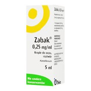 Zabak, (0,25 mg/ml), krople do oczu, 5 ml