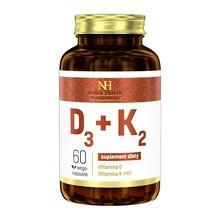 D3 + K2, kapsułki, 60 szt. (Noble Health)