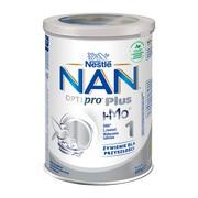 Nestle Nan Optipro Plus 1 HM-O, mleko początkowe dla niemowląt od urodzenia 400 g