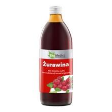 Żurawina 100%, sok z żurawiny wieloowocowej, 500 ml (EkaMedica)