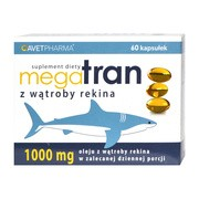 Mega Tran z wątroby rekina, kapsułki, 60 szt.