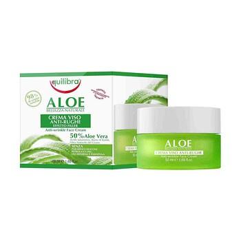 Equilibra, aloesowy przeciwzmarszczkowy krem do twarzy, efekt wypełnienia, 50 ml