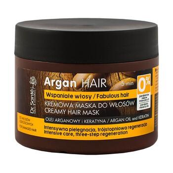 Dr Sante Argan Hair, kremowa maska do włosów, olej arganowy i keratyna, 300 ml