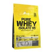 Olimp Pure Whey Isolate 95, proszek, smak truskawkowy, 600 g
