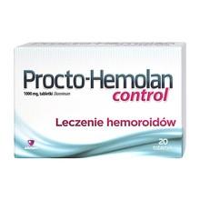 Procto-Hemolan control, 1000 mg, tabletki, 20 szt.