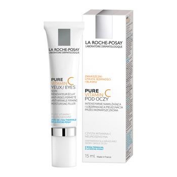 La Roche-Posay Pure Vitamin C, krem pod oczy wypełniający zmarszczki, intensywnie ujędrniający, 15 ml