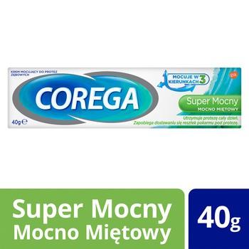 Corega Super Mocny Mocno Miętowy, krem do protez, 40 g