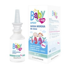 BabyCap, woda morska do nosa, spray, 30 ml