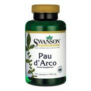 Swanson Pau d'Arco, 500 mg, kapsułki, 100 szt.