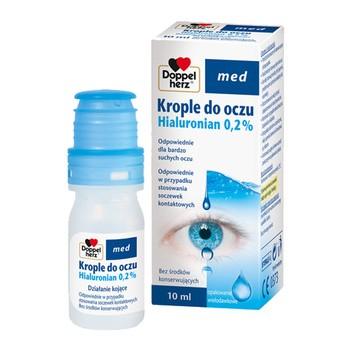 Doppelherz Med Hialuronian 0,2%, krople do oczu, 10 ml