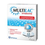 Multilac, synbiotyk, kapsułki, 10 szt.