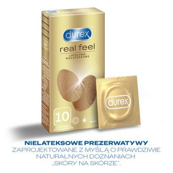Zestaw 2x Durex Real Feel prezerwatywy + żel