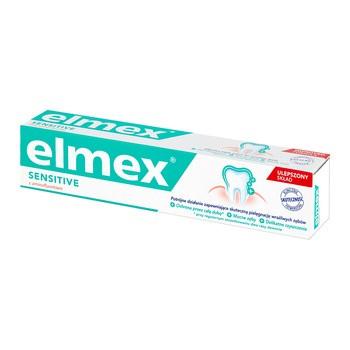Elmex, Sensitive z aminofluorkiem, pasta do zębów, 75 ml