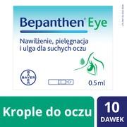 Bepanthen Eye, krople do oczu, pojemniki jednodawkowe, 0,5 ml, 10 szt.