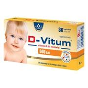 D-Vitum Witamina D dla niemowląt 600 j.m., kapsułki twist-off, 36 szt.