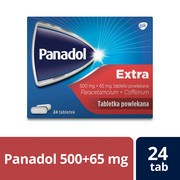 Panadol Extra, 500 mg+65 mg, tabletki powlekane, 24 szt.
