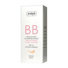 Ziaja BB, aktywny krem na niedoskonałości, skóra normalna/sucha/wrażliwa, odcień jasny, 50 ml