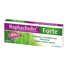 Raphacholin forte, 250 mg, tabletki powlekane, 10 szt.
