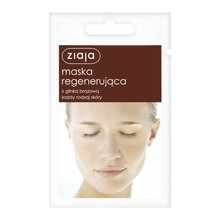 Ziaja, maska regenerująca z glinką brązową, 7 ml (saszetka)