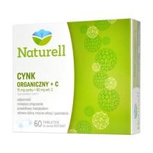 Naturell Cynk Organiczny + C, tabletki do ssania, 60 szt.