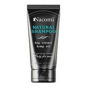 Nacomi, szampon dla mężczyzn z olejem konopnym i ekstraktem z chmielu, 250 ml