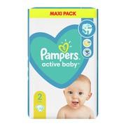 Pampers Active Baby 2 (4−8 kg), pieluszki jednorazowe, 72 szt.