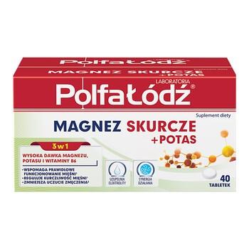 Laboratoria PolfaŁódź Magnez Skurcze+Potas, tabletki, 40 szt.
