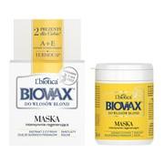 Biovax, intensywnie regenerująca maseczka do włosów blond, 250 ml