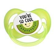 Canpol SoCool, silikonowy smoczek uspokajający, zielony, 0-6 m, 1 szt.