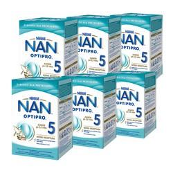 Zestaw 6x Nestle Nan Optipro 5, mleko modyfikowane Junior dla dzieci po 2,5 roku 800 g