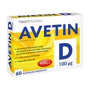 Avetin D, 100 µg, kapsułki, 60 szt.