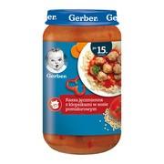 Gerber, kasza jęczmienna z klopsikami w sosie pomidorowym, 15 m+, 250 g