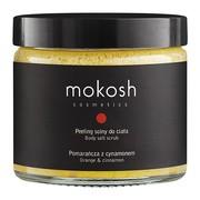 Mokosh, peeling solny do ciała Pomarańcza z cynamonem, 300 g