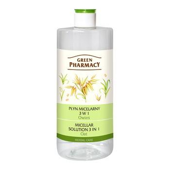 Green Pharmacy, płyn micelarny 3 w 1, owies, 500 ml