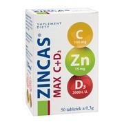 Zincas Max C+D3, tabletki, 50 szt.